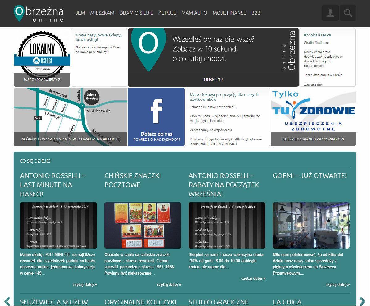 Poprtal lokalny obrzeżna online gastronomia, fryzjerzy, kancelarie notarialne, sklepy